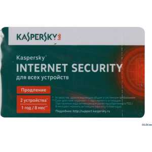 ����������� ����������� Kaspersky Internet Secutity Multi-Device Russian Ed. 2-Device 1 year Renewal Card (KL1941ROBFR)