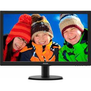 Монитор Philips 243V5LHAB Black монитор 23 6 philips 243v5lhab