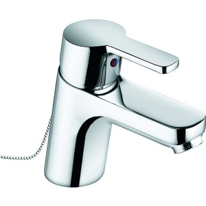 Смеситель для раковины Kludi Logo Neo с цепочкой (372800575) смеситель для ванны с душем kludi logo neo 376819175