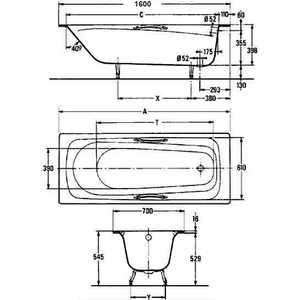 jacob delafon melanie 160x70 e2935 00. Black Bedroom Furniture Sets. Home Design Ideas