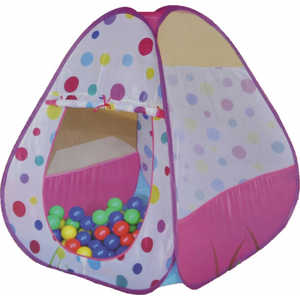 Игровой домик Bony 85х85х100см с шариками 100шт (розовый) LI526
