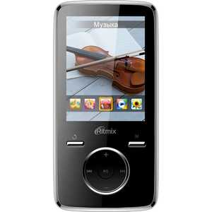 MP3 плеер Ritmix RF-7650 8Gb black плеер texet t 24 8gb black green