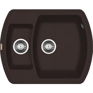 Мойка кухонная Florentina Нире 630 К мокко FSm (20.220.D0630.303) дефлекторы окон novline kia venga 2010 комплект 4шт nld skiven1032