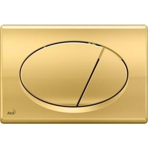 Клавиша смыва AlcaPlast золотая (M75) якимова и зуев и худ три поросенка сказки