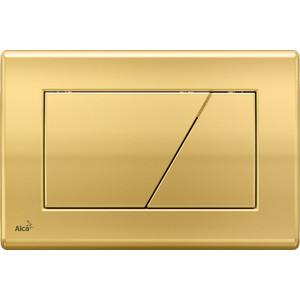 Клавиша смыва AlcaPlast управления золотая (M175) канистра комбинированная champion 6л 3л c1301