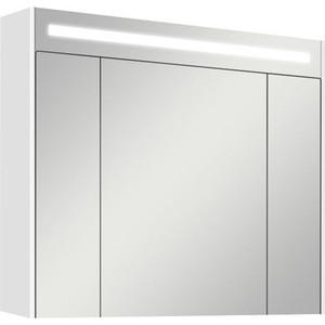 Зеркальный шкаф Акватон Блент 80 белый (1A161002BL010) зеркальный шкаф акватон мадрид 80 1a175202ma010
