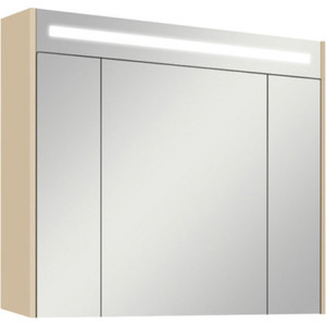 цены Зеркальный шкаф Акватон Блент 80 кремовый (1A161002BLA70)