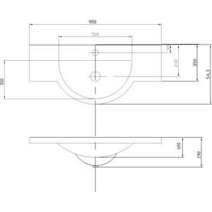 Раковина мебельная Акватон Лацио 95 см (1A702031LC010) 95