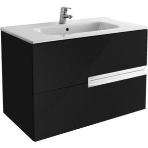 Тумба с раковиной Roca Victoria Nord Black Edition 80 черный (ZRU9000097 + 32799C000)