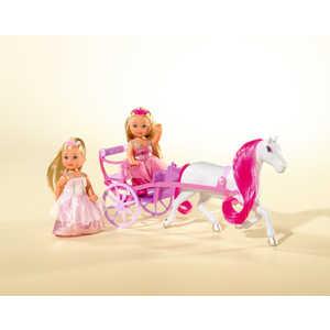 Набор Simba Еви-принцессы + Лошадь с каретой 5736646 simba еви с кроваткой 2 шт simba