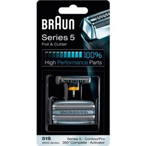Аксессуар Braun Сетка и режущий блок 51S new 1 x series 5 combi shaver foil 51s for braun replacement pack 8000 360 530 570 560 590 8985 free shipping