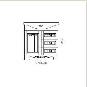 Тумба под раковину Aqualife Design Гент с/3ящ корзина матовая (1-198-032-AF70)