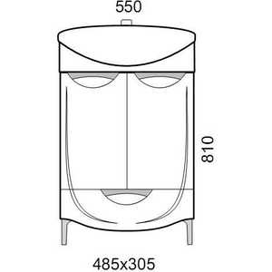 Тумба под раковину Aqualife Design Иматра с/ящ (1-197-000-AF55) aqualife лион 50