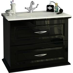 Тумба под раковину Edelform Mero 80 с/2ящ черная (1-658-13-GM80) edelform мебель для ванной edelform nota 75 белая