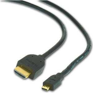 Gembird HDMI-microHDMI 3м (CC-HDMID-10) кабель цифровой аудио видео belkin hdmi п microhdmi п 10 2 гбит с 3м f3y030bf3m p