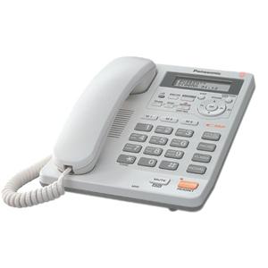 Проводной телефон Panasonic KX-TS2570RUW проводной и dect телефон panasonic kx tg9542 kx tg9542b