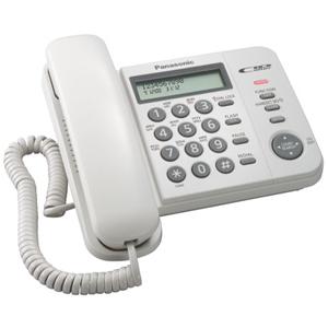 Проводной телефон Panasonic KX-TS2356RUW атс panasonic kx tem824ru аналоговая 6 внешних и 16 внутренних линий предельная ёмкость 8 внешних и 24 внутренних линий
