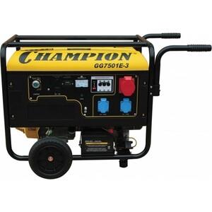Генератор бензиновый Champion GG7501E-3 дизельный генератор champion dg10000e 3