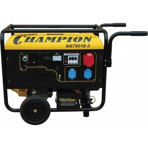 Генератор бензиновый Champion GG7501E-3 акб champion dg3601e dg6501e dg6501e 3 c3505