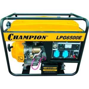Генератор бензиново-газовый Champion LPG6500E генератор дизельный champion dg10000e 3