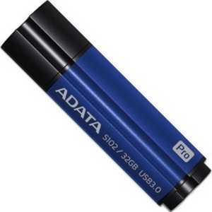 Флеш-диск A-Data 32Gb S102 Pro Синий алюминий (Read 600X) (AS102P-32G-RBL) цена 2017