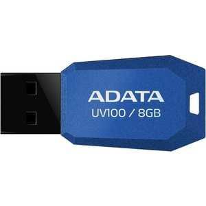 Флеш-диск A-Data 8Gb UV100 Синий (AUV100-8G-RBL)