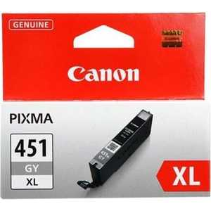 Картридж Canon CLI-451XL GY (6476B001) картридж canon cli 8c для ip4200 ip5200 0621b024