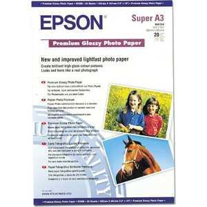 Фотобумага Epson Premium Glossy A3+ 20 листов (C13S041316) фотобумага epson c13s041316 a3 250г м2 глянцевая 20 листов