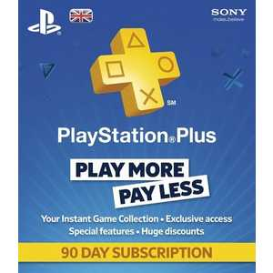 Карта оплаты Sony Playstation Plus - 90 Day Subscription Card (PS3)