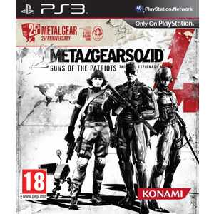Игра для PS3  Metal Gear Solid 4: Guns of the Patriots. 25th Anniversary Edition (PS3, английская версия)