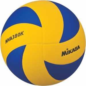 Мяч волейбольный Mikasa MVA380K размер 5 сине-желтый цена и фото