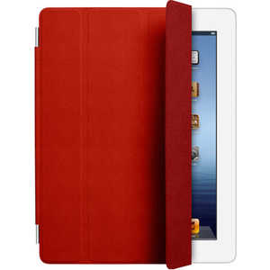 Apple Чехол iPad Smart Cover Leather Red (красный) (MD304ZM/ A)