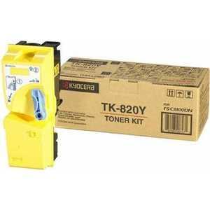 Картридж Kyocera TK-820Y (1T02HPAEU0) new original kyocera 302fb93220 belt transfer for km 8030 6030 ta620 820