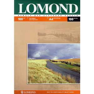Фотобумага Lomond A4 матовая (102002) фотобумага lomond а4 100г кв м двухсторонняя матовая 100л 0102002
