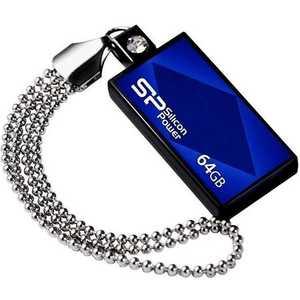 Фотография товара флеш-диск Silicon Power 64Gb Touch 810 Синий (SP064GBUF2810V1B) (311161)