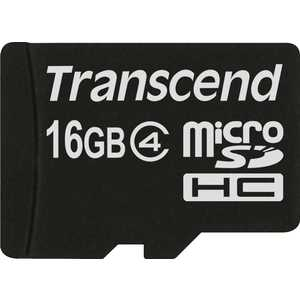 Transcend microSD 16GB Class 4 (TS16GUSDC4) transcend microsd sd ts adpmsd black