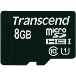 Transcend microSD 8GB Class 10 UHS-I ( SD адаптер) (TS8GUSDU1)