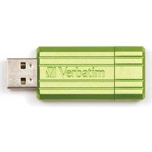 Фотография товара флеш-диск Verbatim 16GB PinStripe Зеленый (49070) (311259)