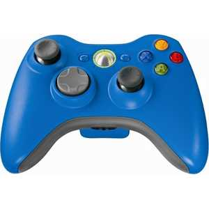 Microsoft XBox 360 Wireless Controller, blue (43G-00024)