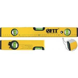 Уровень FIT Профи усиленный 2 глазка + 1 глазок поворотный желтый 600мм (18246) уровень fit усиленный желтый фрезерованная грань 3 глазка 1200мм 18212