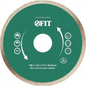 Диск алмазный FIT 180х25.4мм (37455)