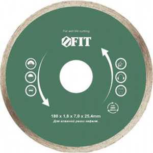 Диск алмазный FIT 200х25.4мм (37456) диск алмазный fit 230х22 2мм 37467