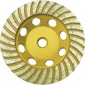 Чашка алмазная шлифовальная FIT 125х22.2мм Турбо (39521) диск алмазный турбо с лазерной перфорацией 230х22 2 мм gross 73034