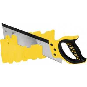 Стусло FIT пластмассовое желтое с обушковой пилой 350мм ''Профи'' (41258)