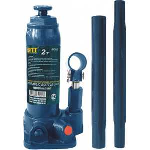 Домкрат гидравлический бутылочный FIT 5т (64505) домкрат matrix 50756 бутылочный 5т h подъема 216–413мм в пласт кейсе