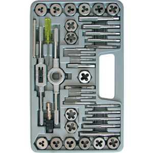 Набор леркок и метчиков FIT 40 предметов легированная сталь Профи (70807) набор метчиков 6х1мм 2 шт fit 70843