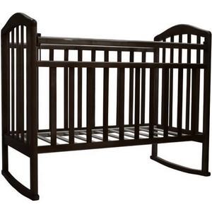 Кроватка Антел Алита-2 колесо/качалка (венге) детские кроватки ивашка мой малыш 5 колесо качалка