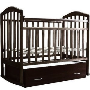 Кроватка Антел Алита-4 поперечный маятник/закрытый ящик (венге) кроватка антел алита 4 маятник качалка ящик орех
