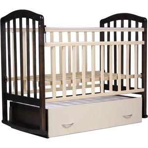 Кроватка Антел Алита-4 (венге/слоновая кость) обычная кроватка агат 52105 золушка 4 слоновая кость