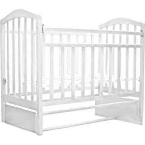 Кроватка Антел Алита-5 продольный маятник (белый) детские кроватки антел каролина 5 маятник продольный